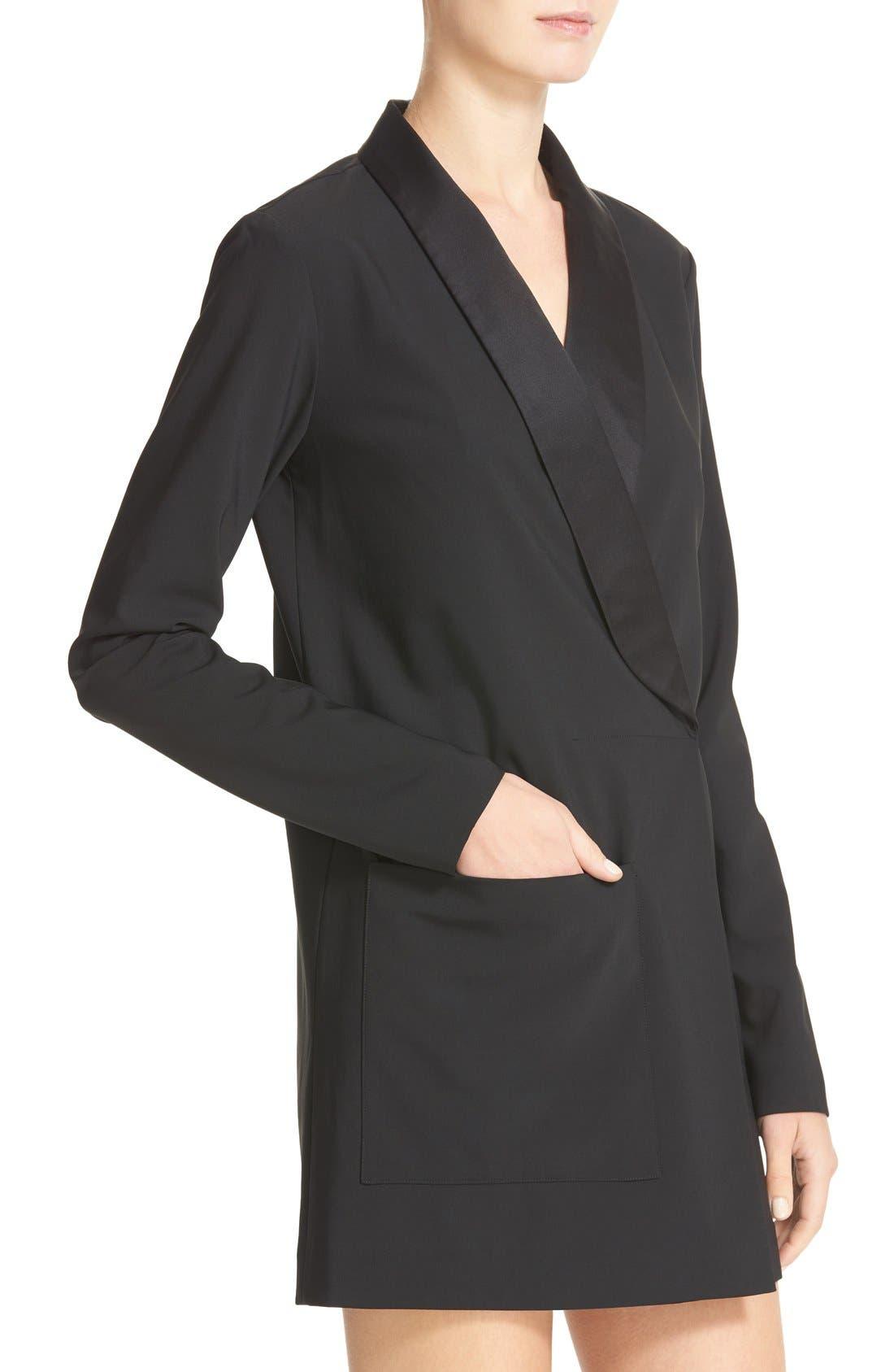 Alternate Image 4  - Tibi Satin Lapel Tuxedo Dress