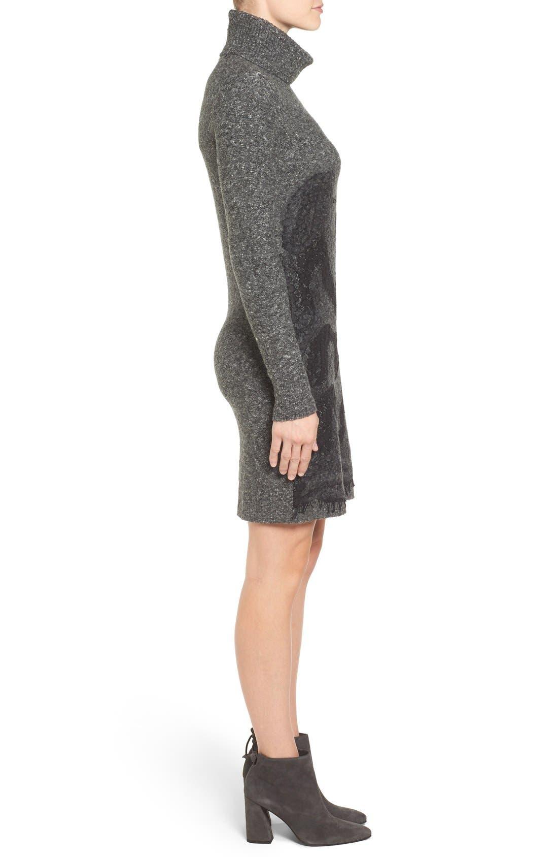 Alternate Image 3  - MICHAEL Michael Kors Needle Punched Lace Sweater Dress