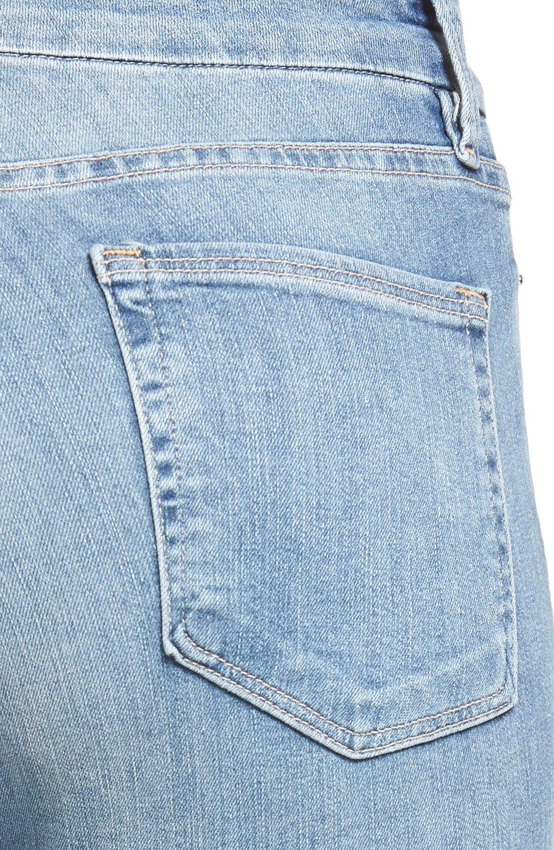 Alternate Image 7  - Good American Good Legs High Rise Raw Step Hem Skinny Jeans