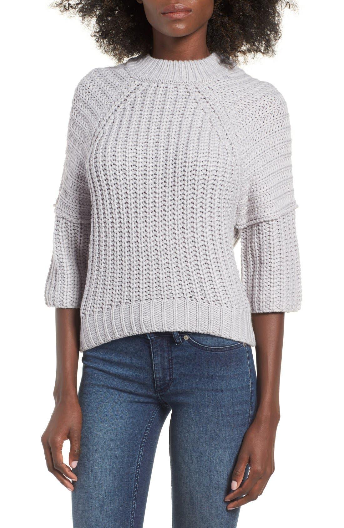 Alternate Image 1 Selected - J.O.A. Rib Knit Sweater