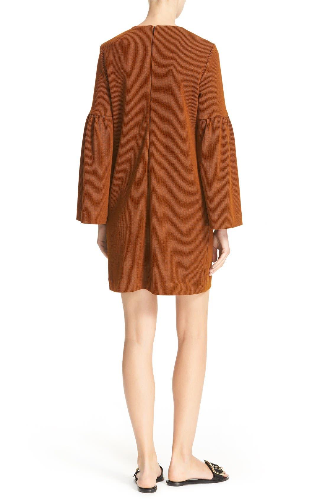 Alternate Image 2  - Tibi Stripe Texture Knit Bell Sleeve Dress