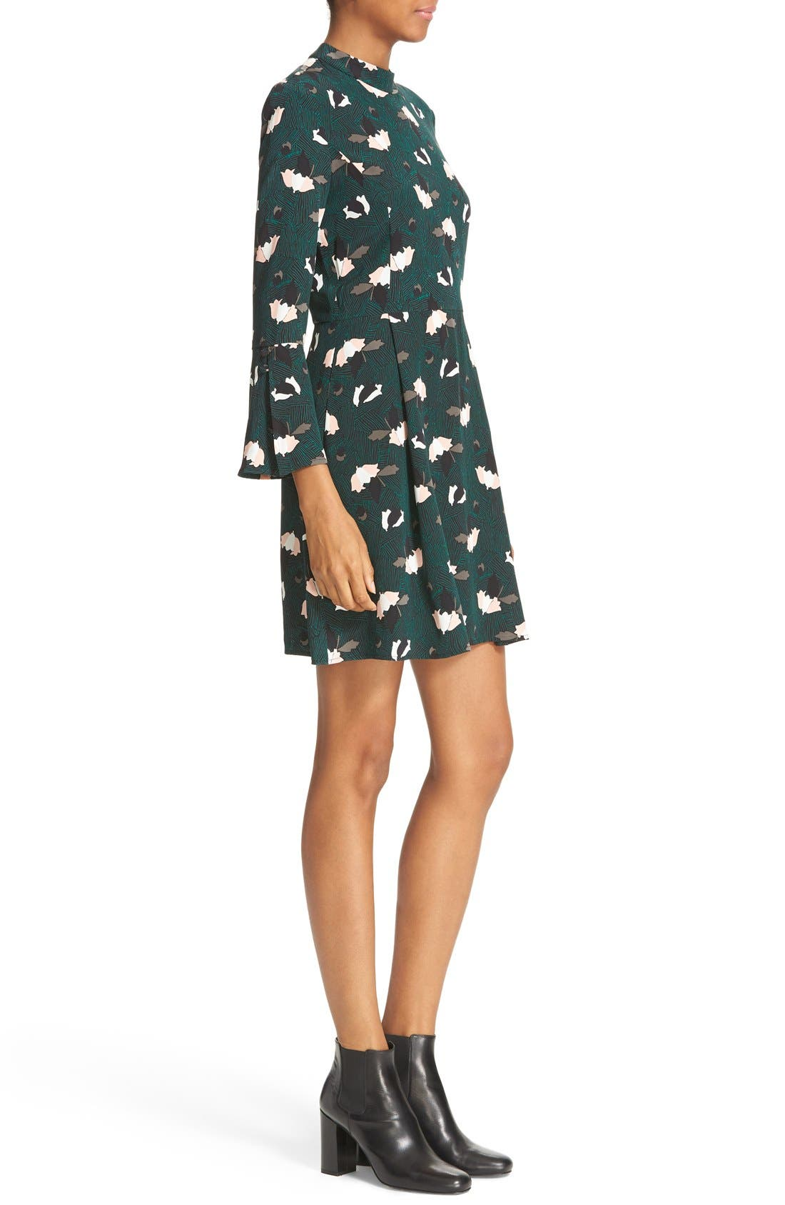 Alternate Image 3  - Derek Lam 10 Crosby Print silk Bell Sleeve Dress