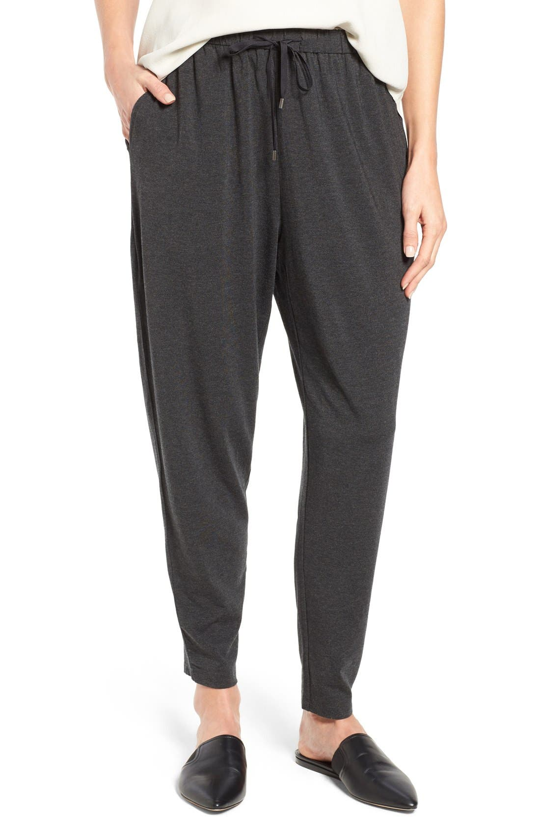 EILEEN FISHER Cozy Stretch Jersey Slouchy Pants