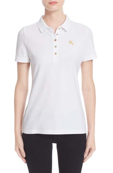 Cotton Piqué Polo BURBERRY