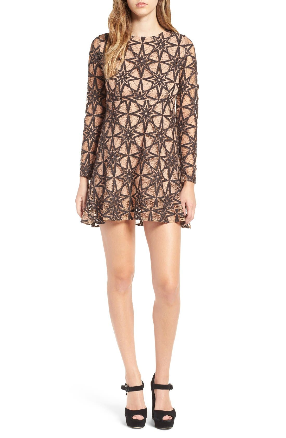 Alternate Image 1 Selected - For Love & Lemons Metz Party Dress