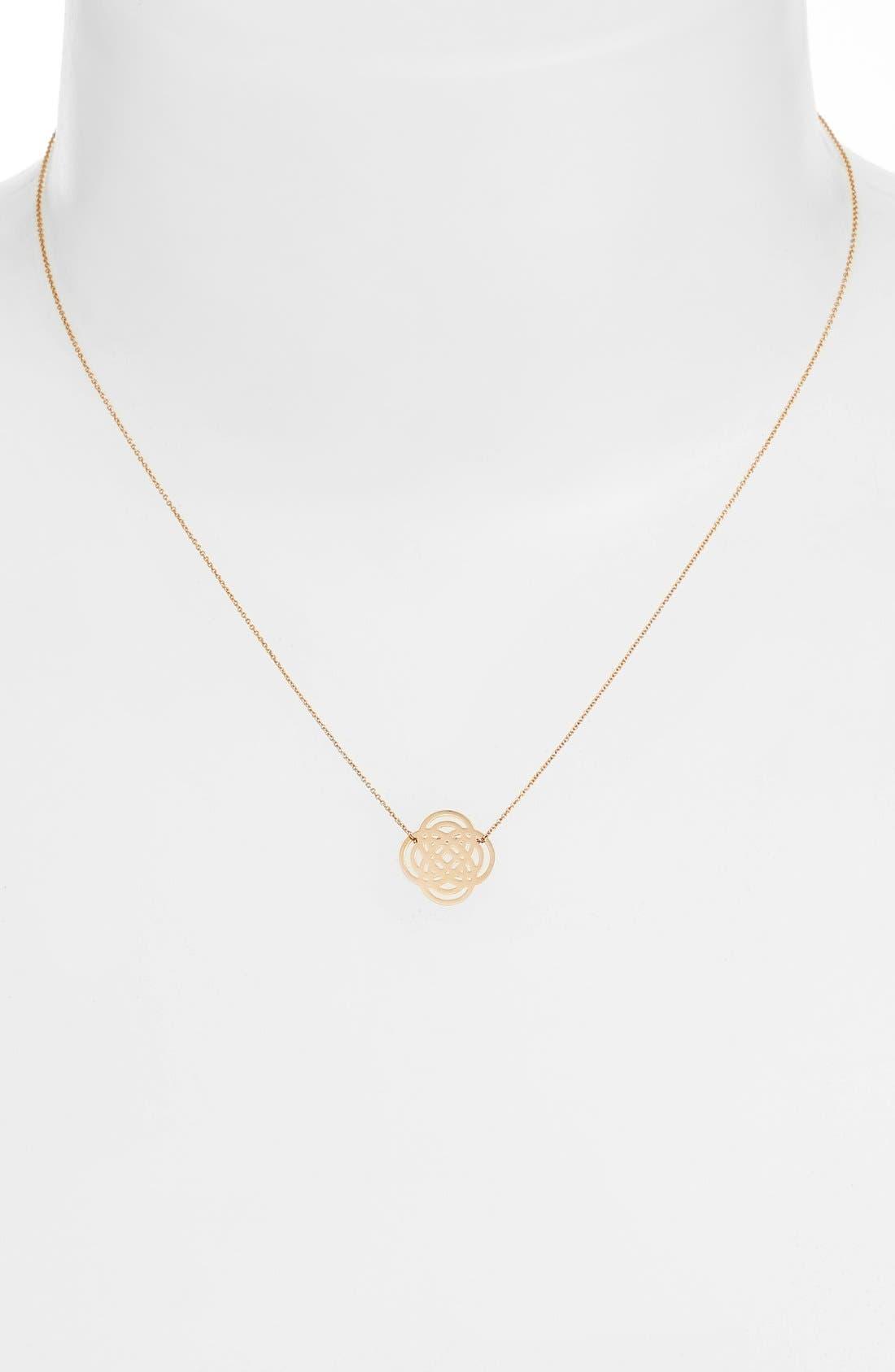 Alternate Image 2  - ginette ny Mini Purity Pendant Necklace