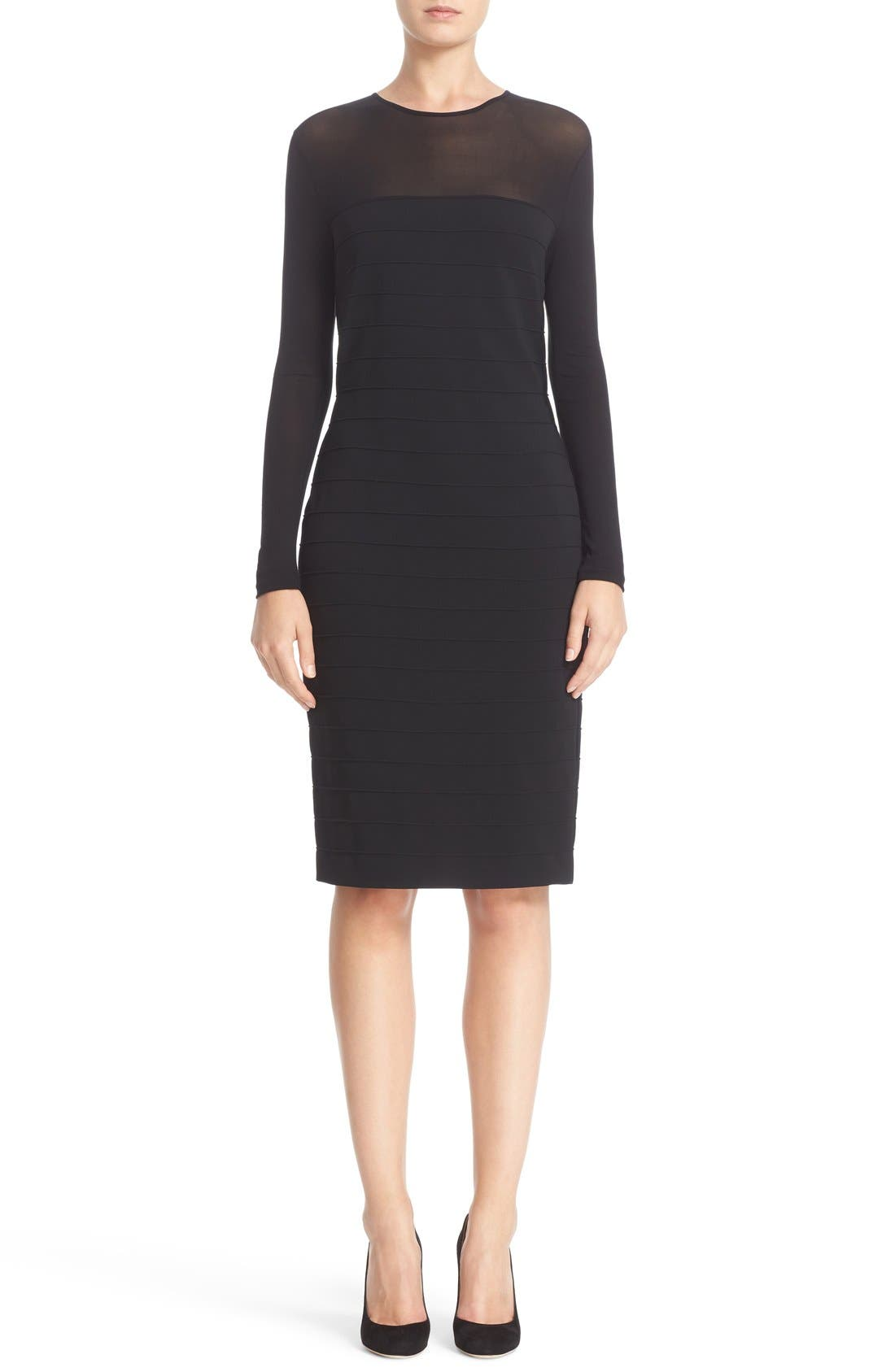 MAX MARA Orafo Illusion Sheath Dress