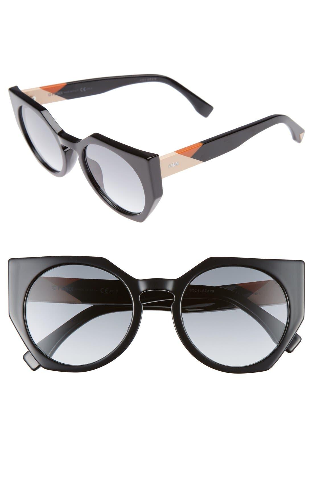 Alternate Image 1 Selected - Fendi 51mm Retro Sunglasses