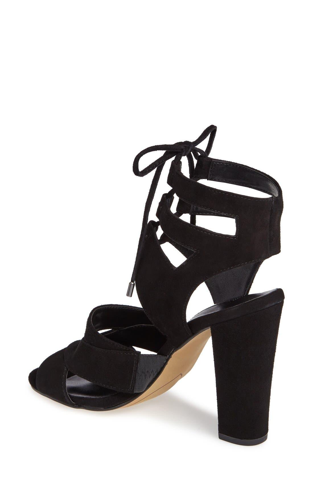 Alternate Image 2  - Halogen® Lani Strappy Lace-Up Sandal (Women)