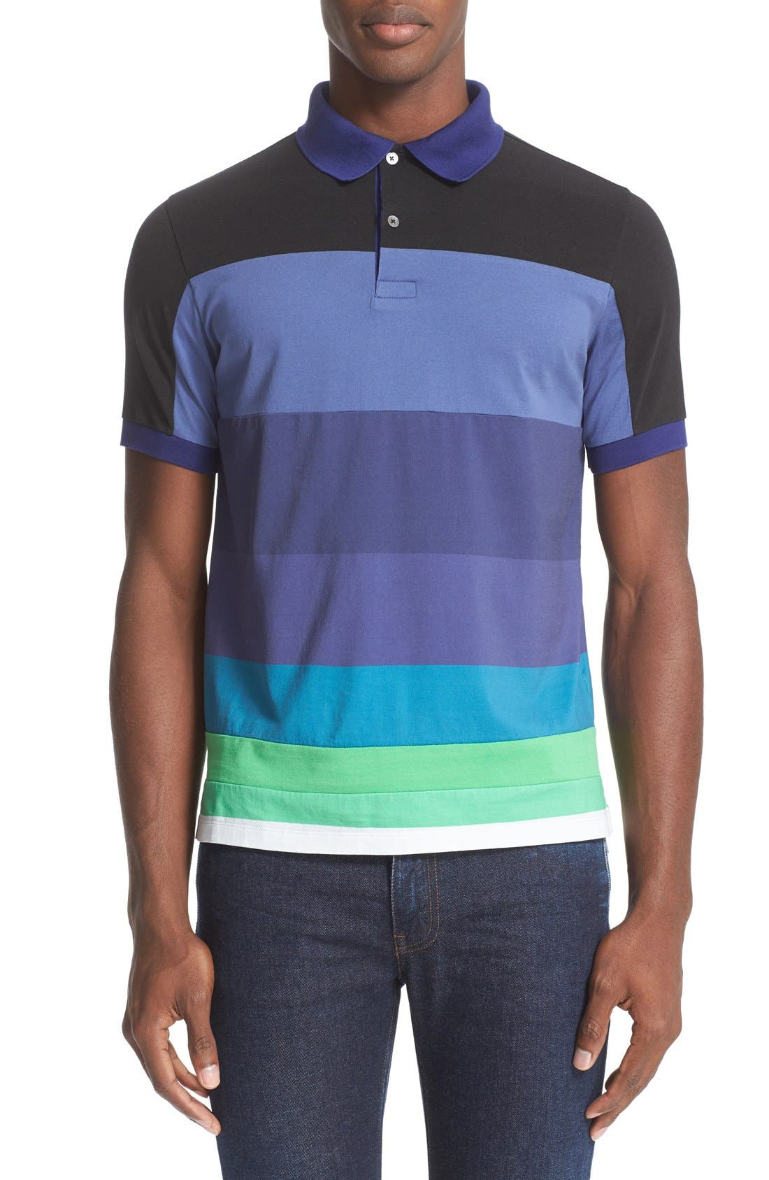 PAUL SMITH Colorblock Polo