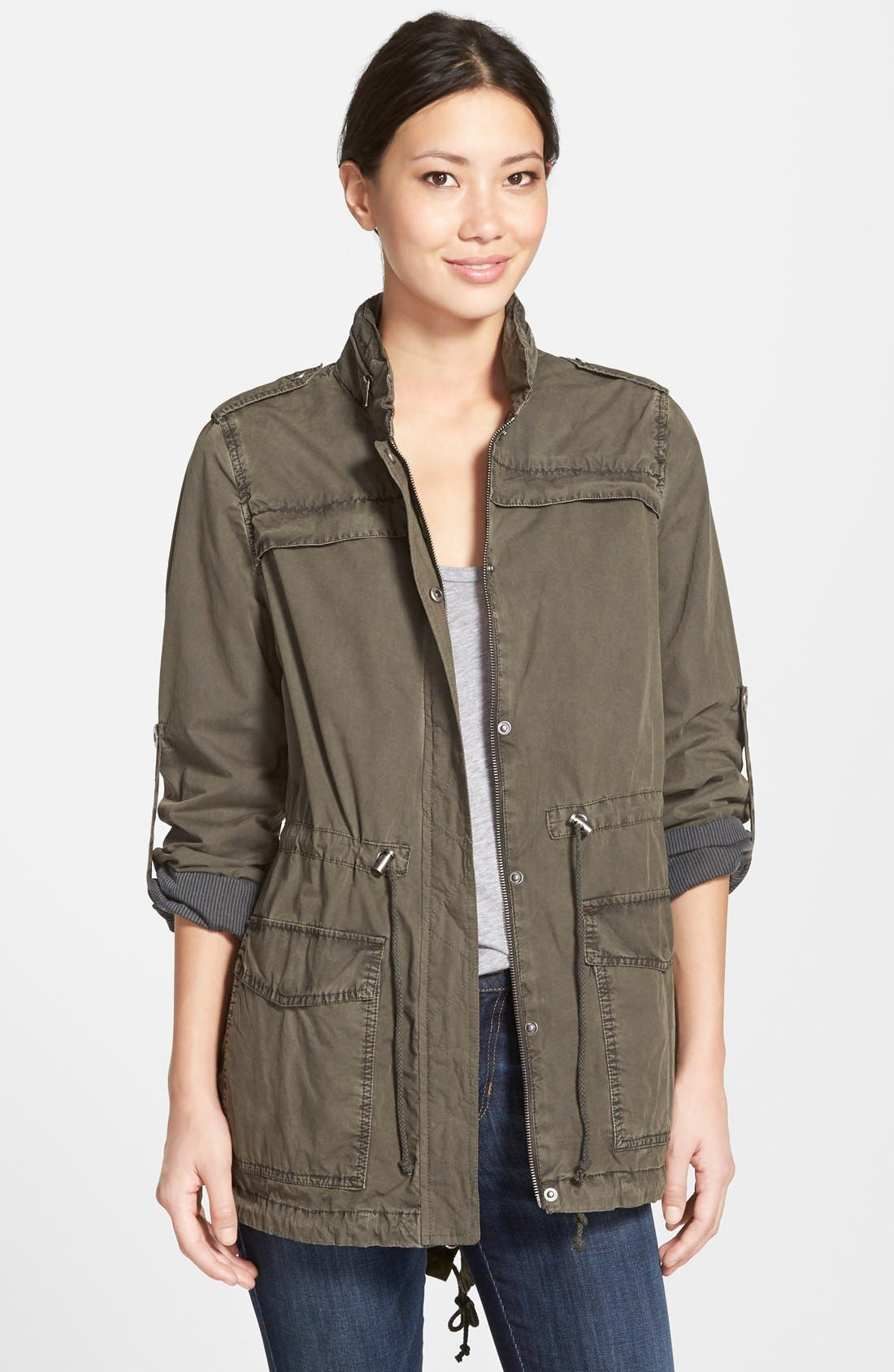 Alternate Image 1 Selected - Levi's® Lightweight Cotton Hooded Utility Jacket