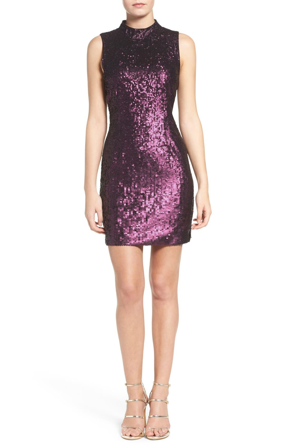 Alternate Image 4  - French Connection Sequin Body-Con Dress