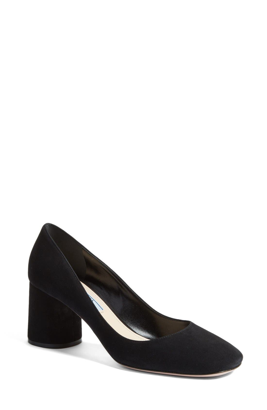 PRADA Block Heel Pump