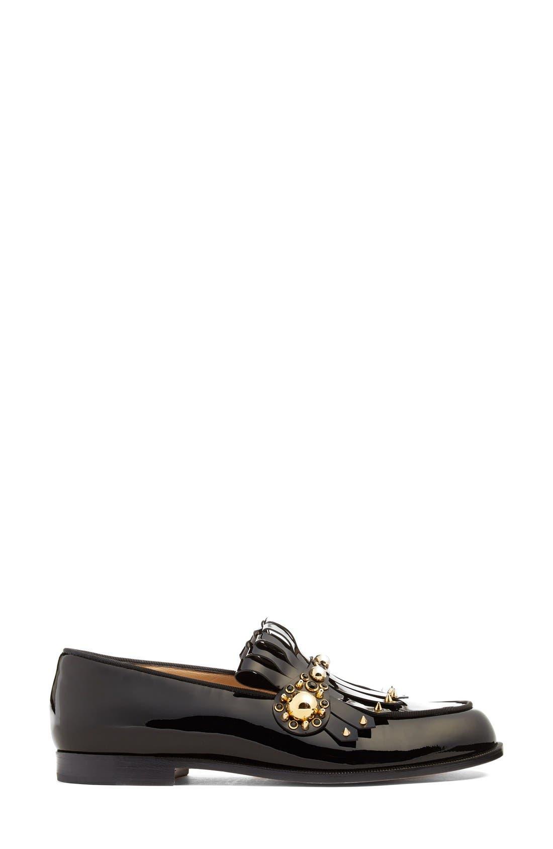 Alternate Image 4  - Christian Louboutin Octavian Embellished Kilted Loafer