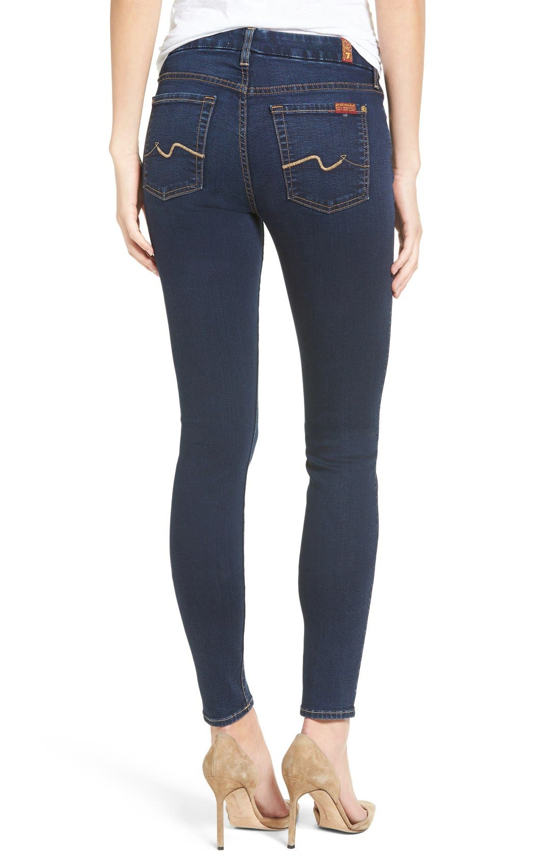 Alternate Image 2  - 7 For All Mankind® b(air) Skinny Jeans (Bair Tranquil Blue)