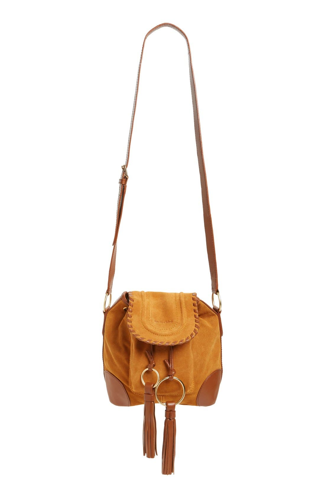 Alternate Image 1 Selected - See by Chloé Small Polly Leather Bucket Bag