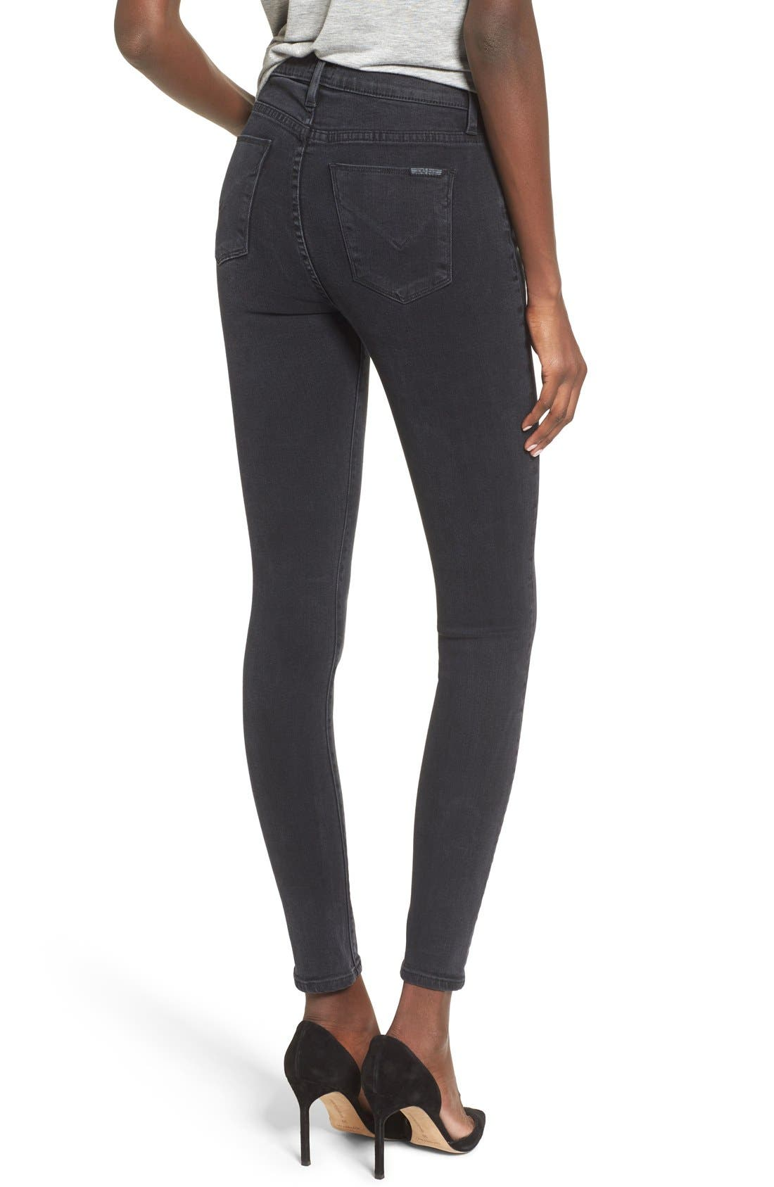 Alternate Image 2  - Hudson Jeans Barbara High Waist Super Skinny Jeans (Bazooka)