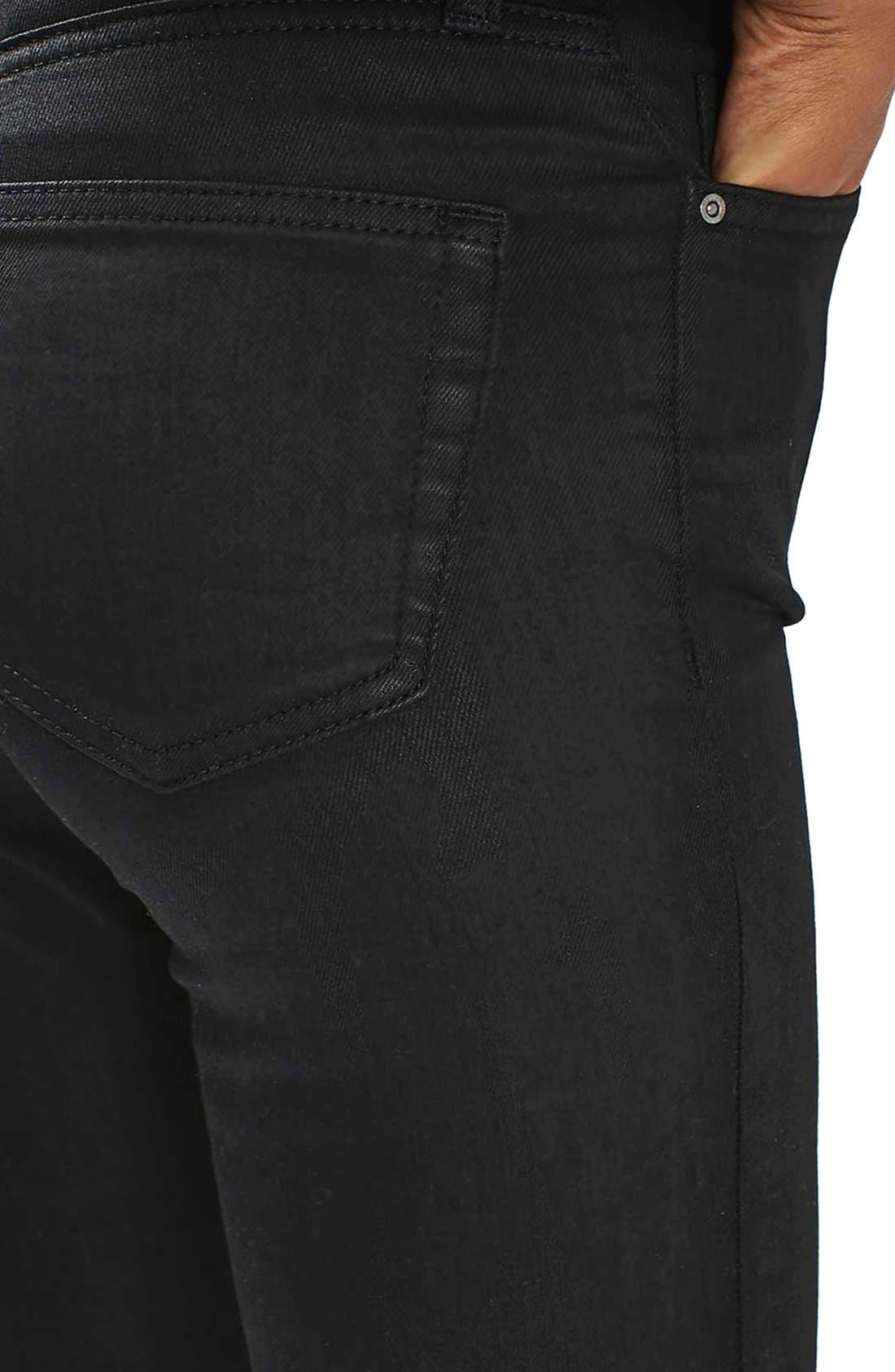 Alternate Image 5  - Topshop Jamie Coated Skinny Jeans
