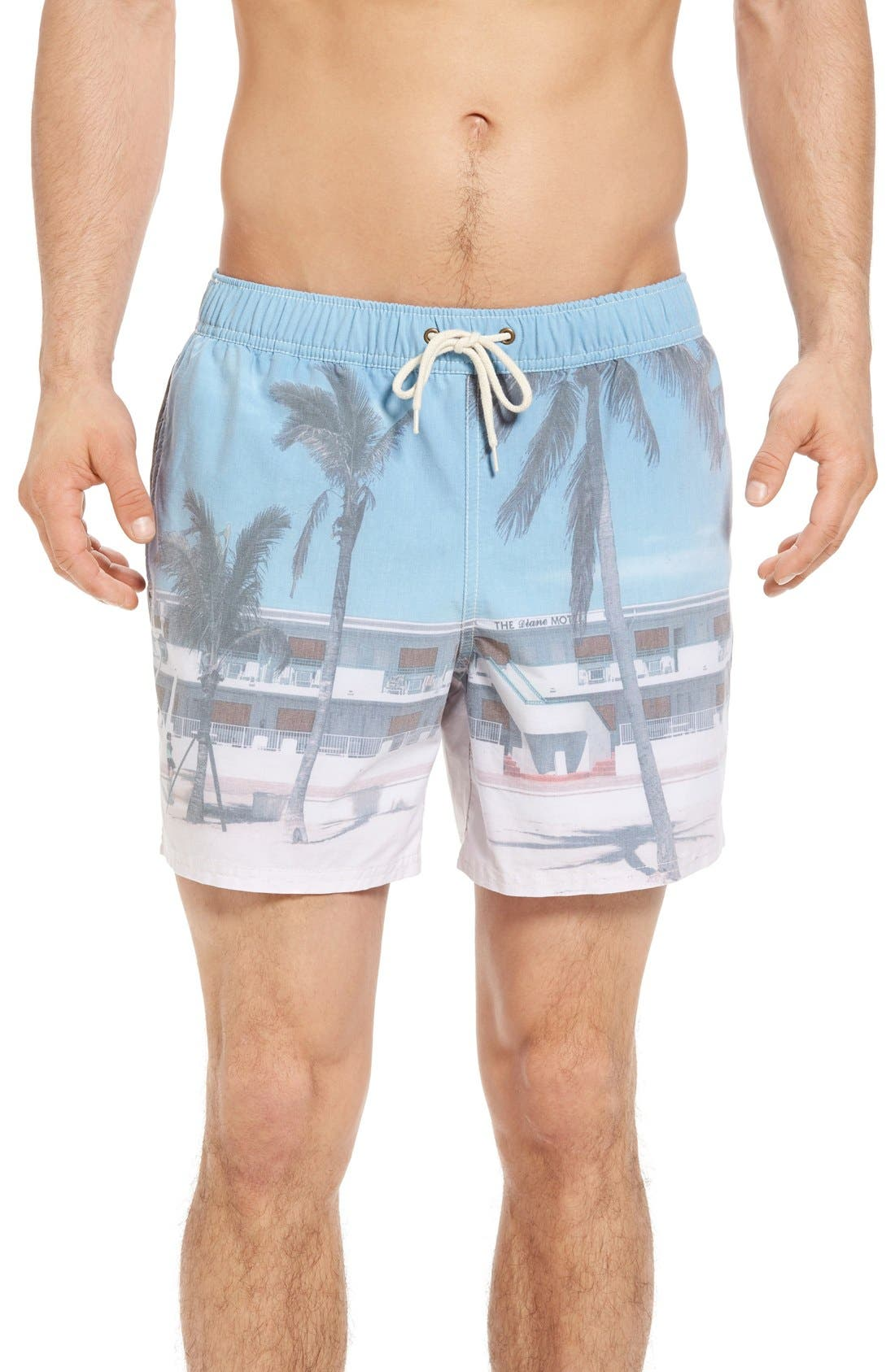 Original Paperbacks Waikiki Motel Swim Trunks