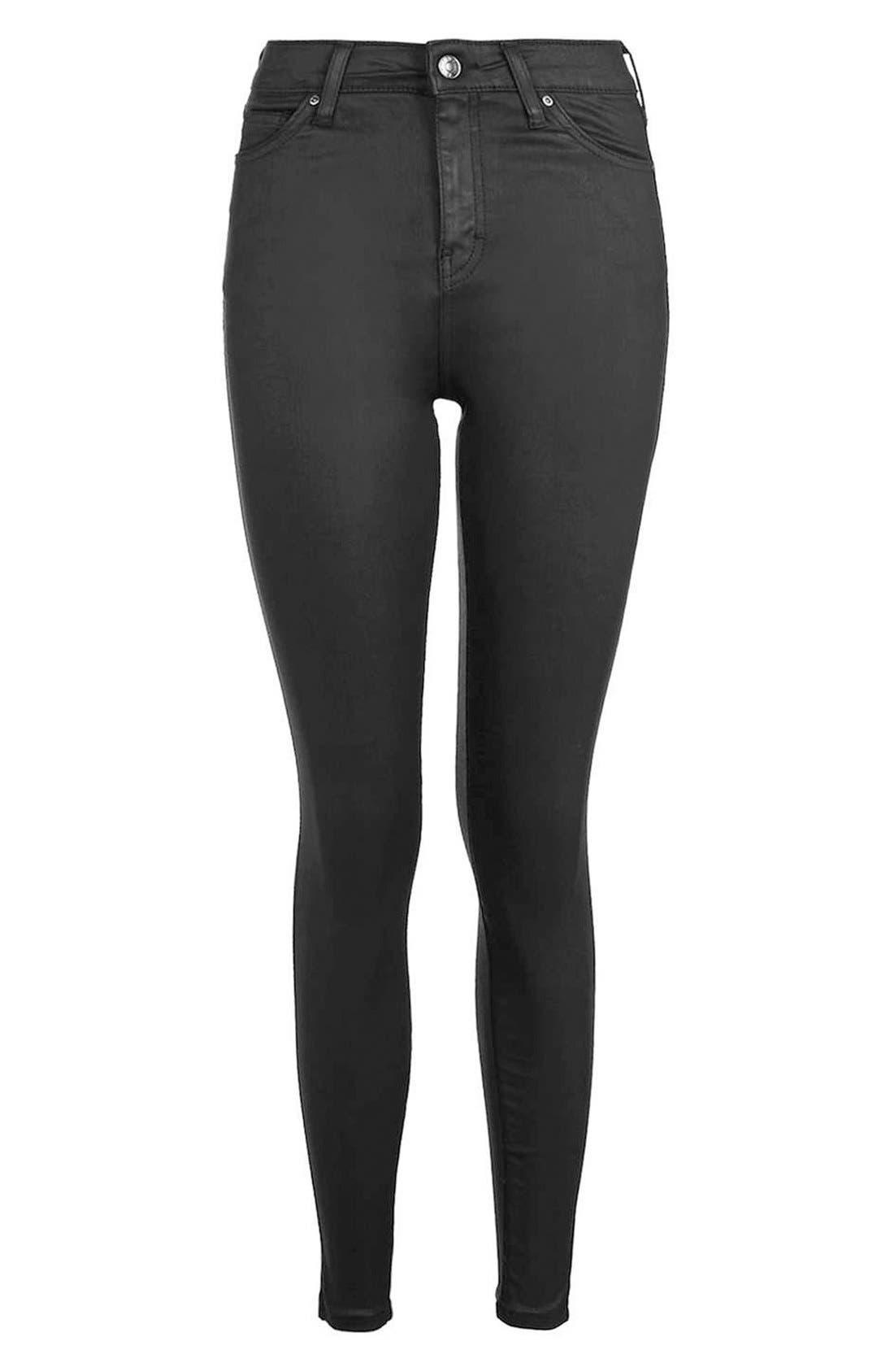 Alternate Image 4  - Topshop Jamie Coated Skinny Jeans