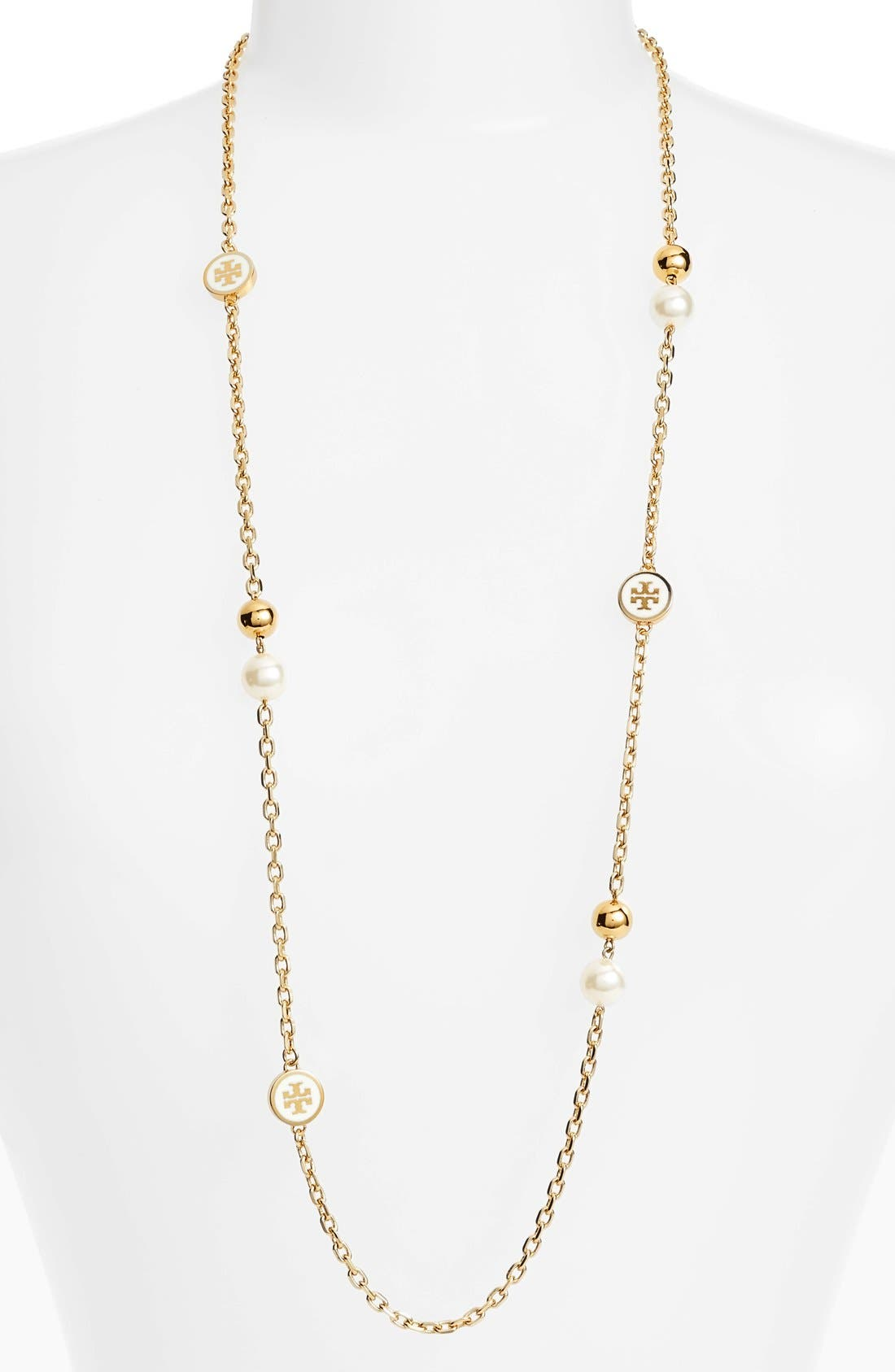 Tory Burch Logo Station Necklace