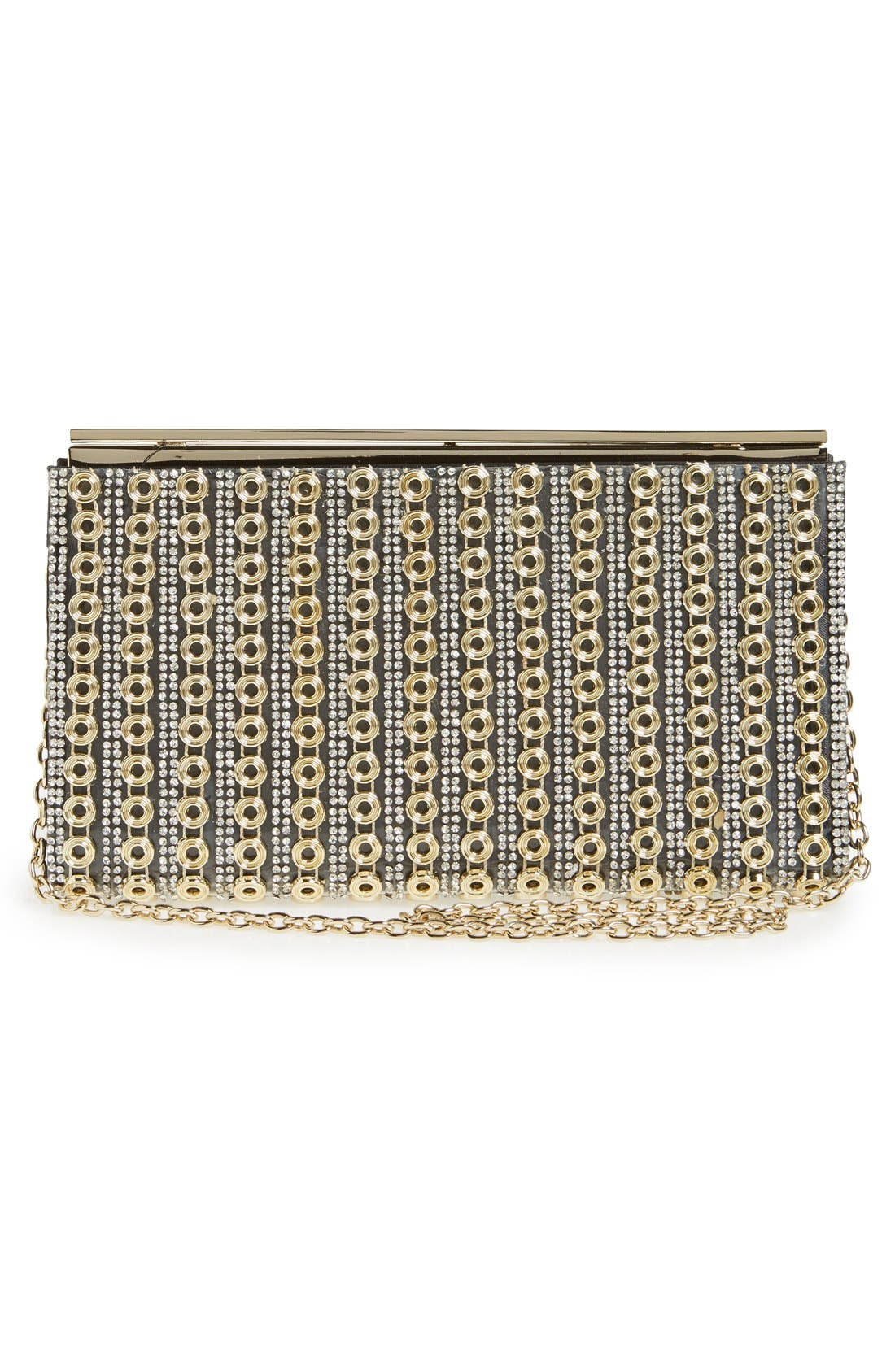 Alternate Image 2  - Sondra Roberts Crystal & Chain Clutch