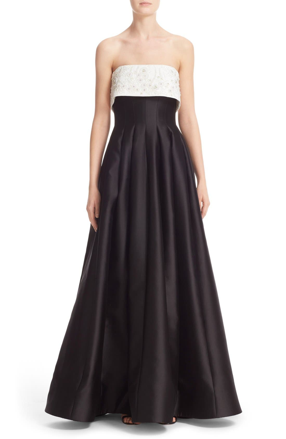 BADGLEY MISCHKA COUTURE. Badgley Mischka Embellished Bodice