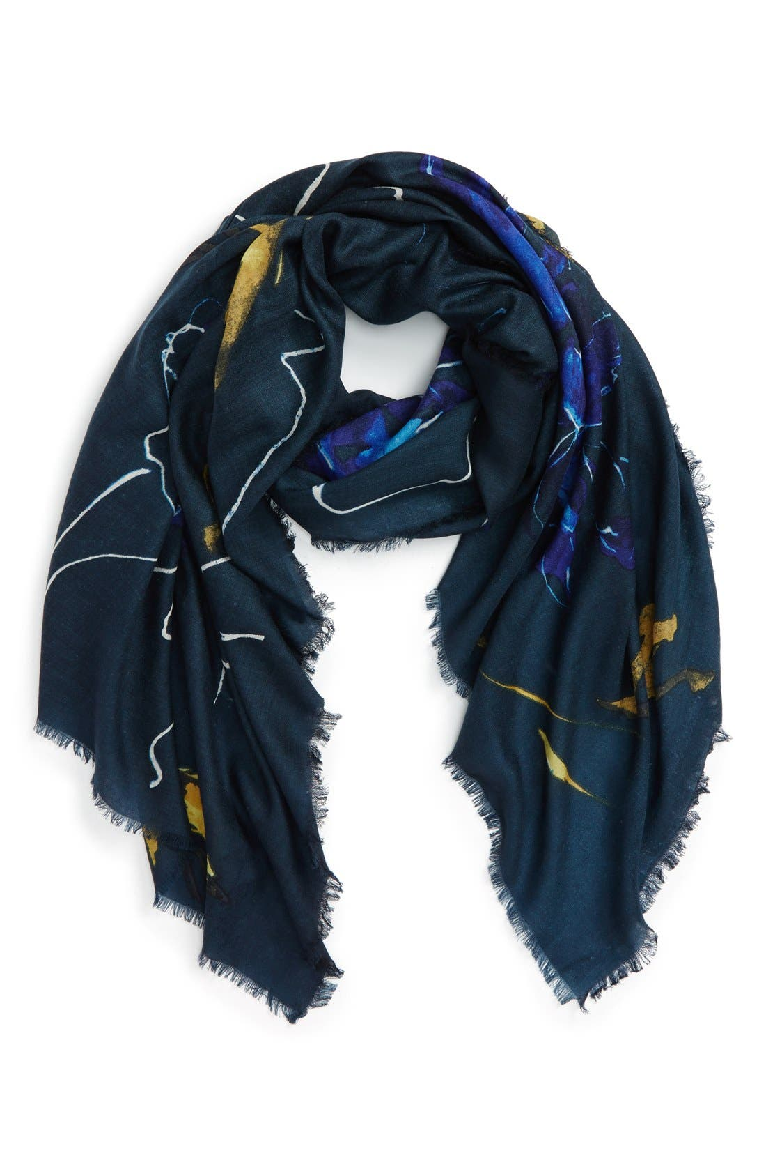 Main Image - Nordstrom Expressionist Floral Print Scarf