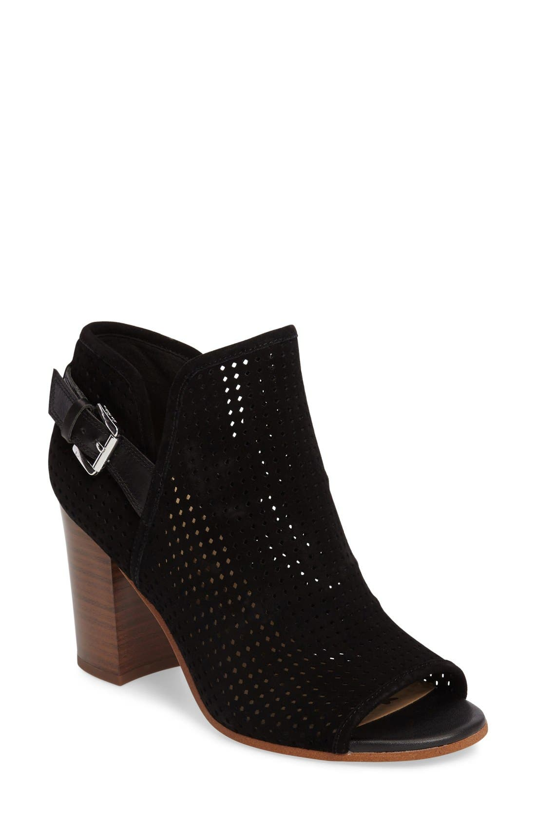 Alternate Image 1 Selected - Sam Edelman Easton Perforated Open Toe Bootie (Women)