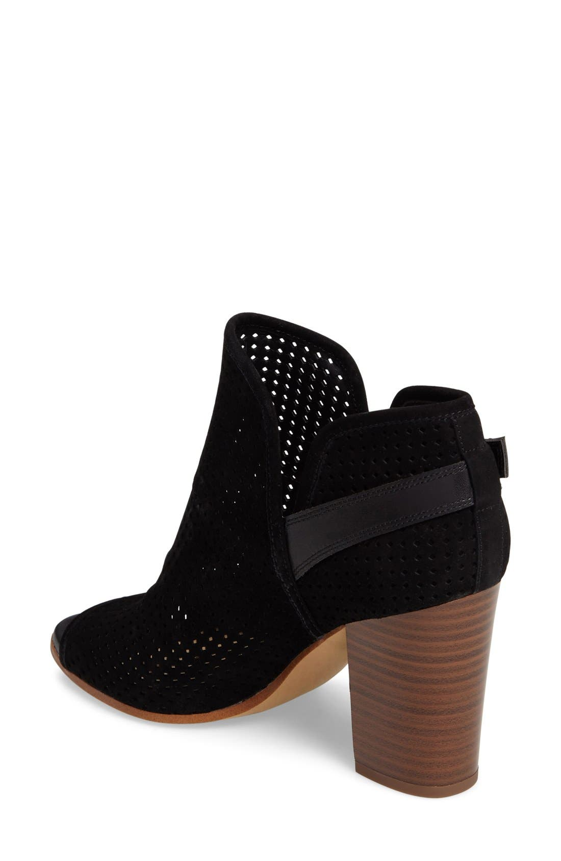 Alternate Image 2  - Sam Edelman Easton Perforated Open Toe Bootie (Women)
