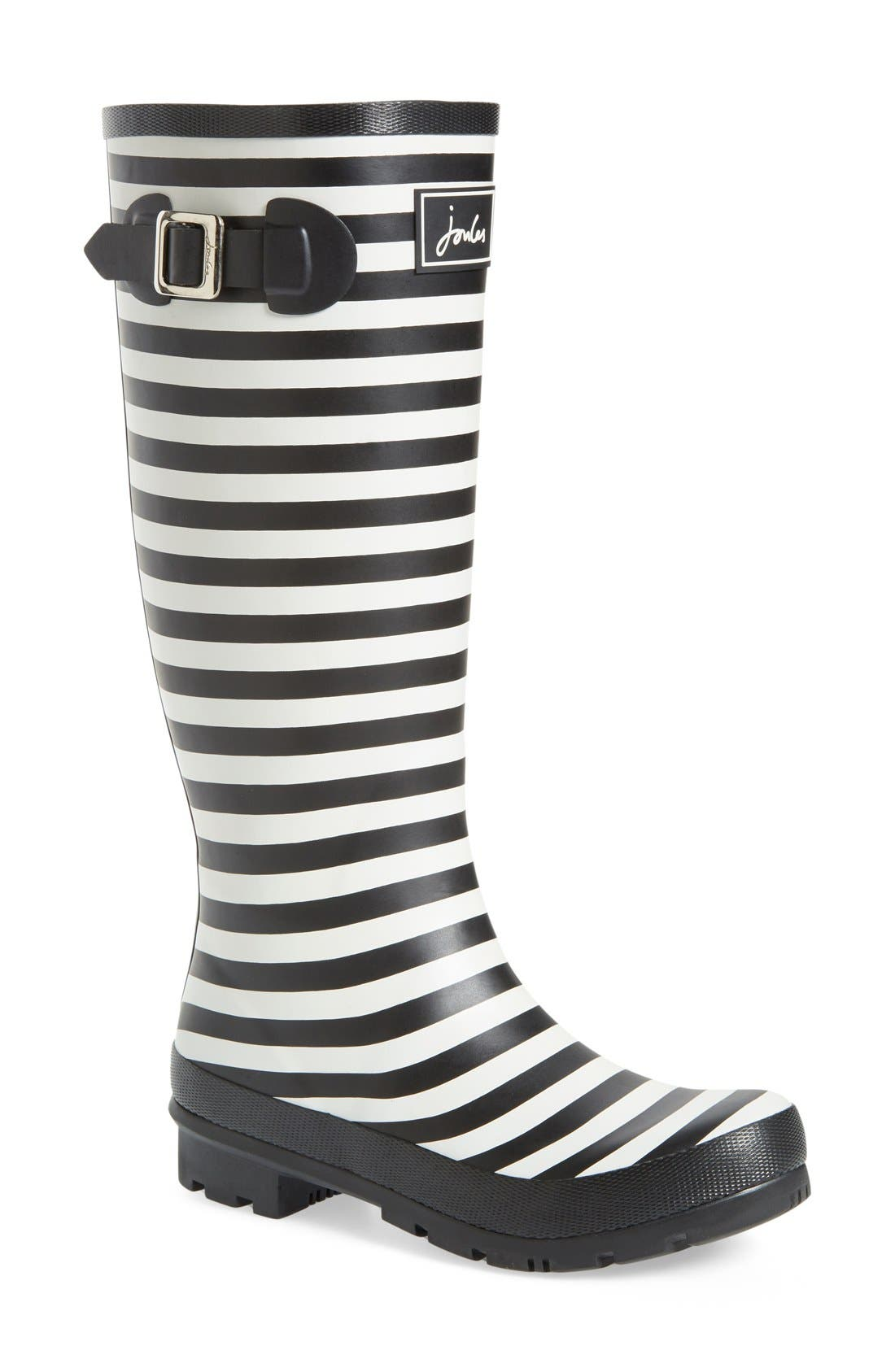 Joules 'Welly' Print Rain Boot (Women)