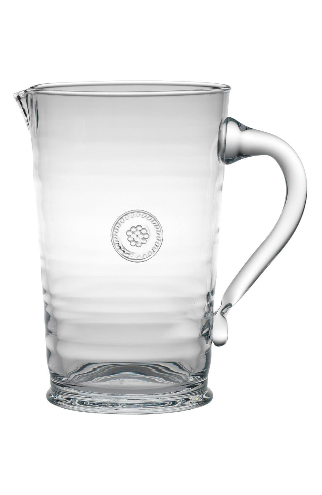 Juliska Berry & Thread Glass Pitcher