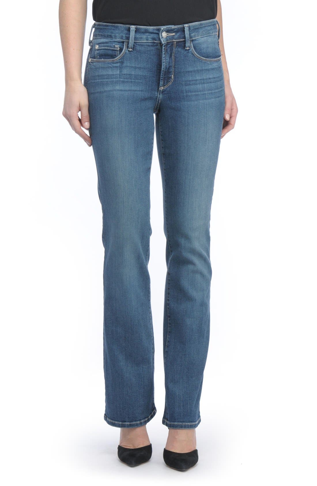 Alternate Image 1 Selected - NYDJ Barbara Stretch Bootcut Jeans (Heyburn) (Regular & Petite)
