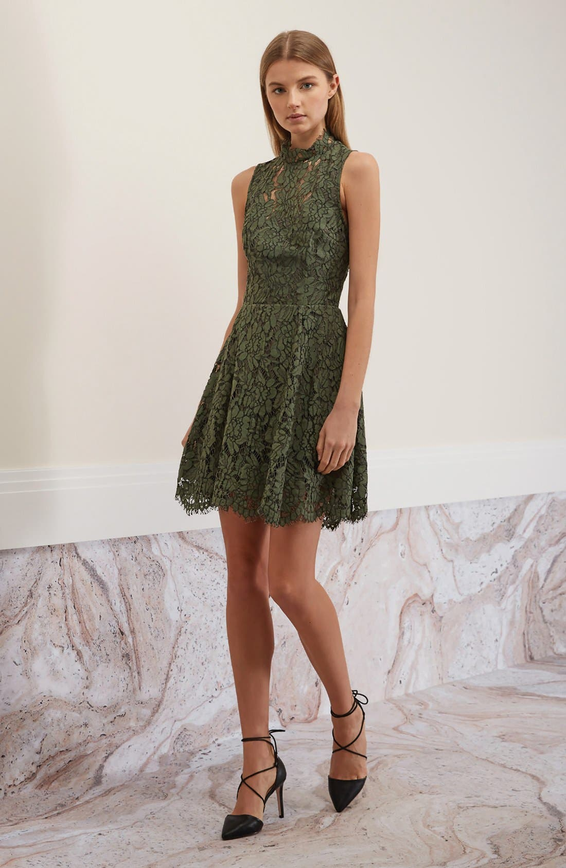 Alternate Image 2  - Keepsake the Label Porcelain Lace Fit & Flare Dress