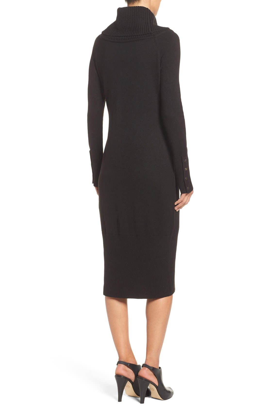Alternate Image 2  - Eliza J Cowl Neck Sweater Midi Dress