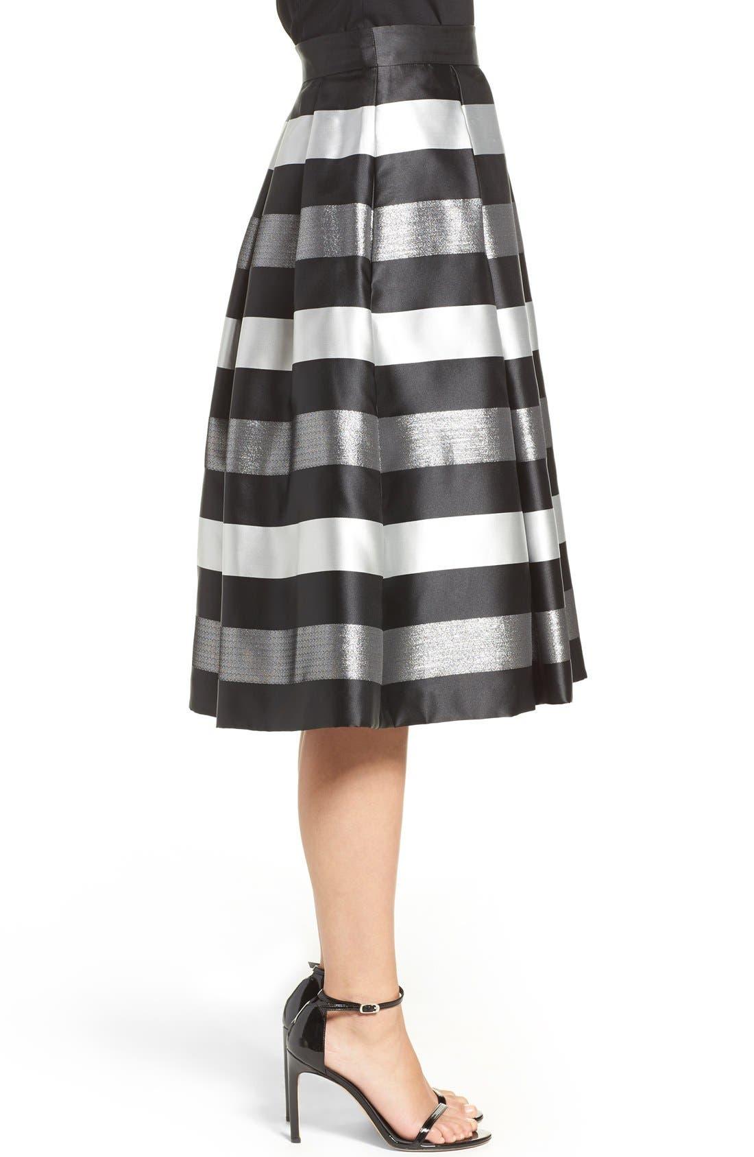 Alternate Image 3  - Eliza J Jacquard Midi Skirt