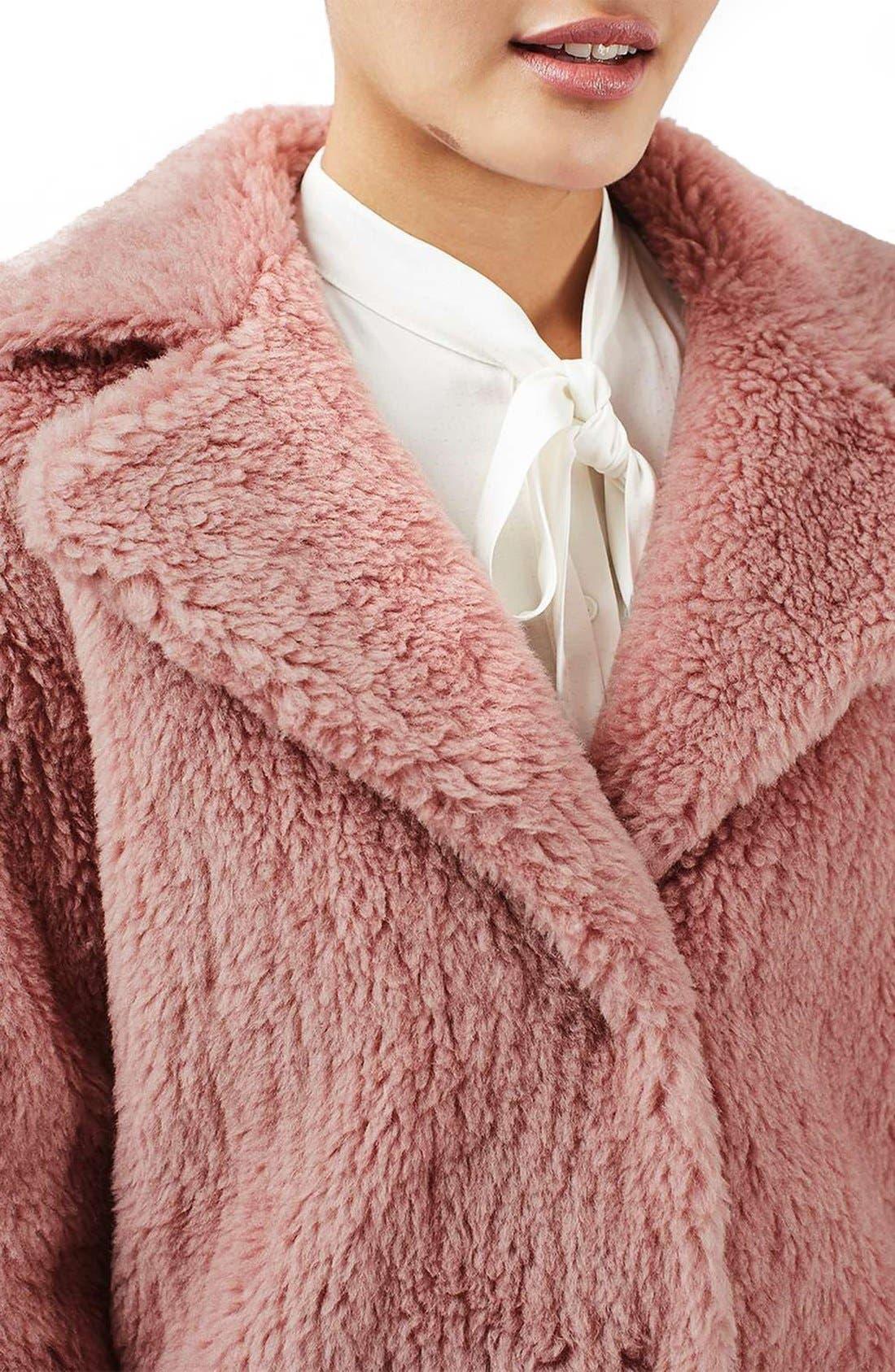 Alternate Image 6  - Topshop Faux Fur Coat