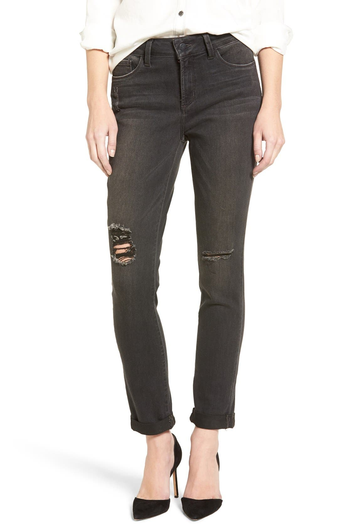 NYDJ 'Anabelle' Destructed Stretch Boyfriend Jeans