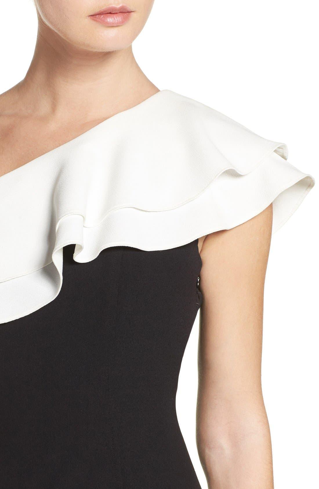 Alternate Image 5  - Aidan by Aidan Mattox One-Shoulder Dress