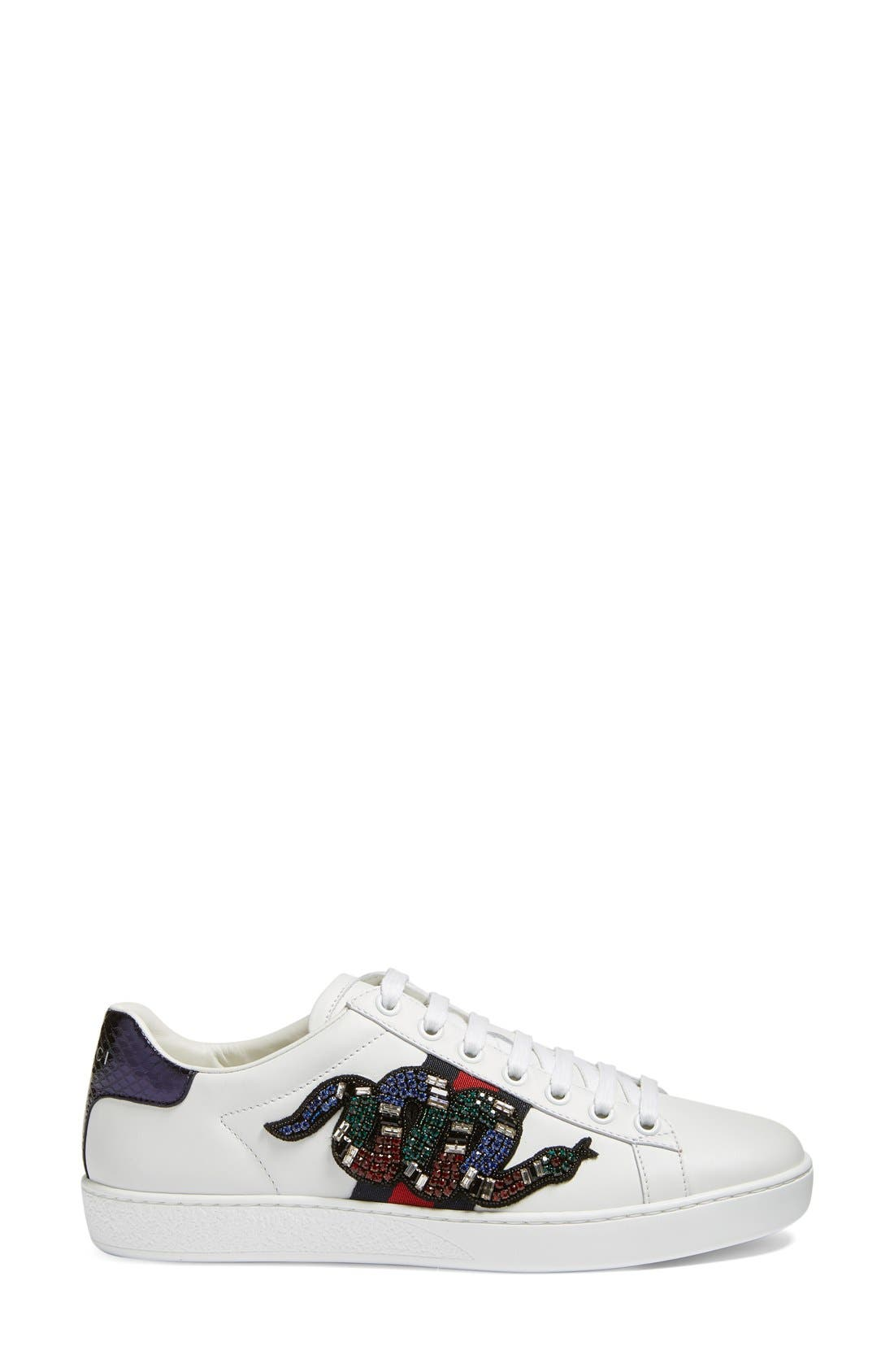 Alternate Image 4  - Gucci New Age Snake Embellished Sneaker (Women)