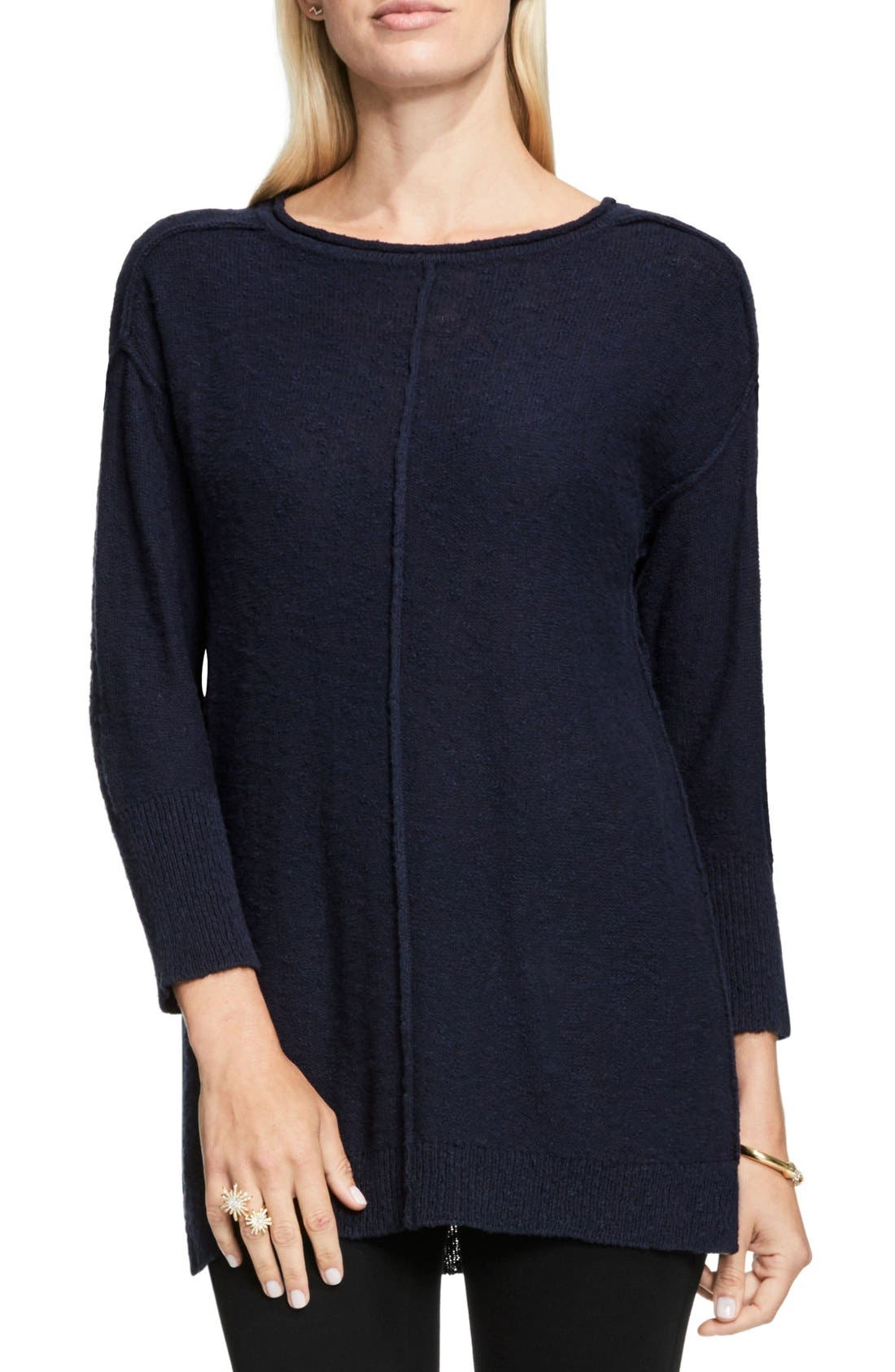 Main Image - Two by Vince Camuto Exposed Seam Sweater