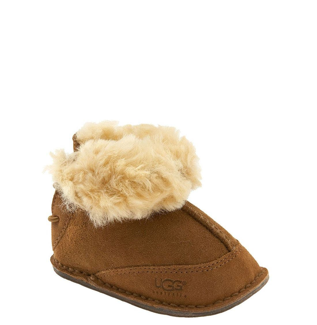 Alternate Image 1 Selected - UGG® 'Boo' Bootie (Baby & Walker)