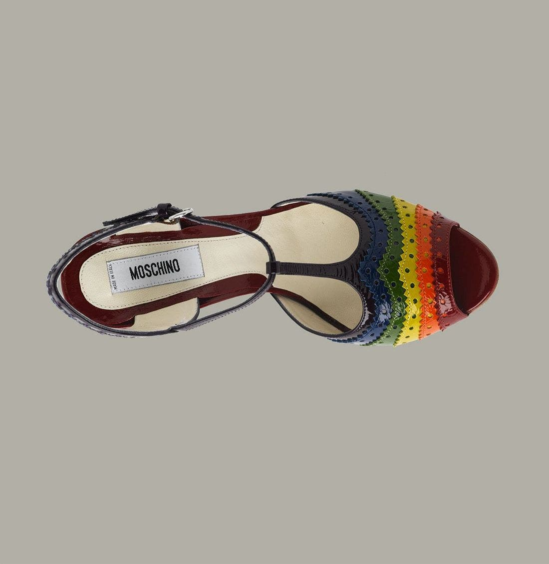 Alternate Image 3  - Moschino Rainbow T-Strap Peep Toe Sandal
