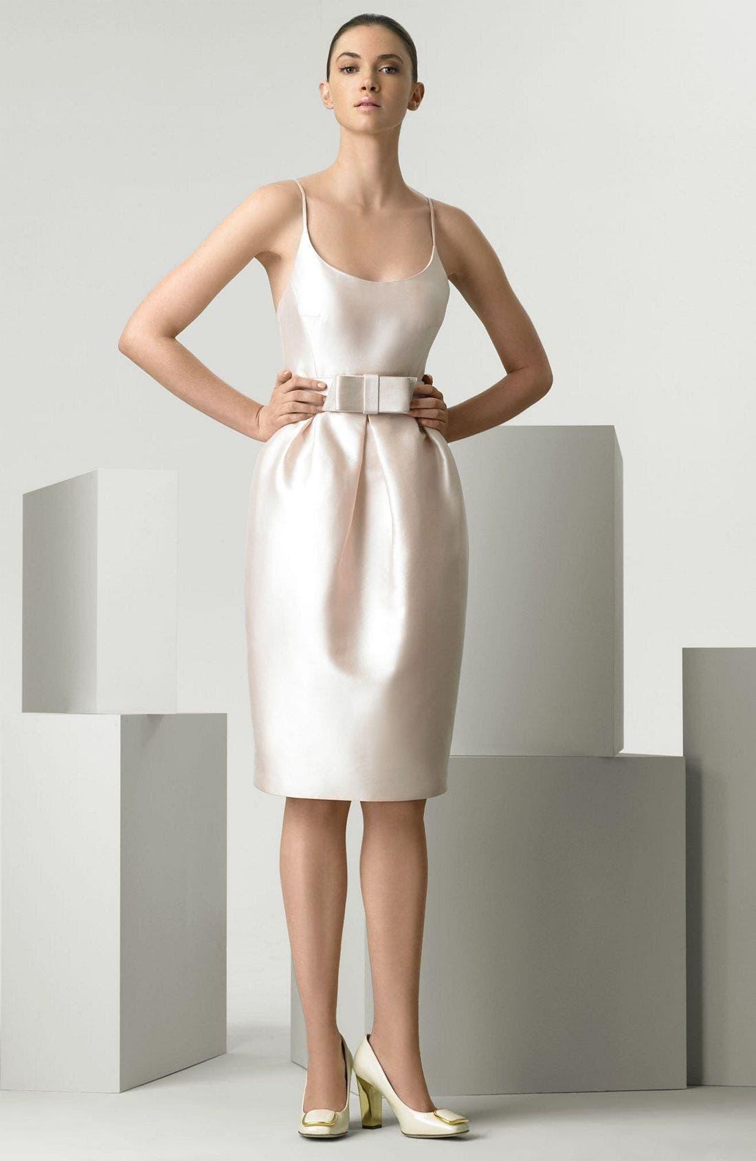 Main Image - Michael Kors Wool & Silk Mikado Cocktail Dress