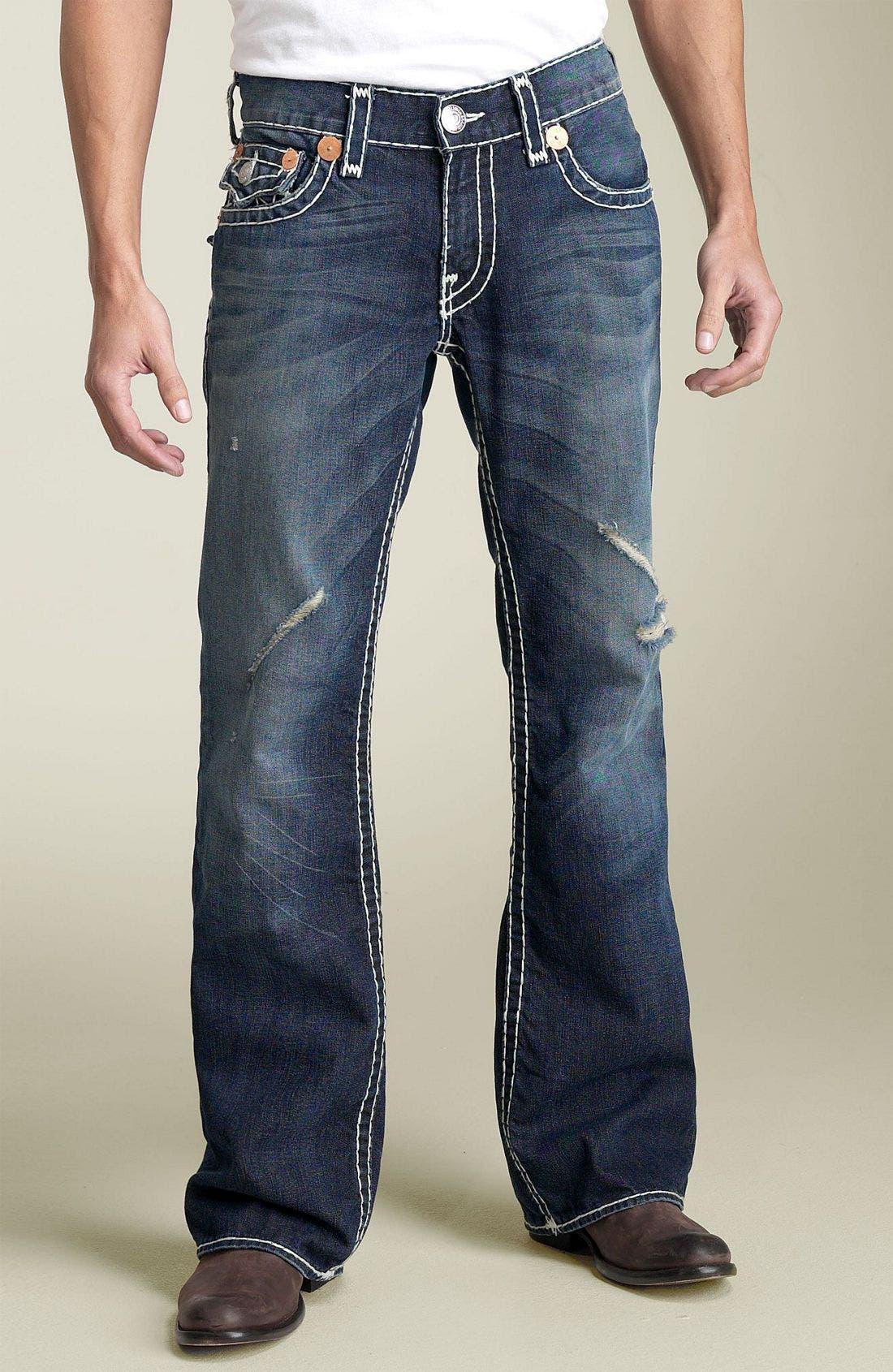 Alternate Image 2  - True Religion Brand Jeans 'Billy - Natural Super-T' Bootcut Jeans (Medium Moto Psycho)