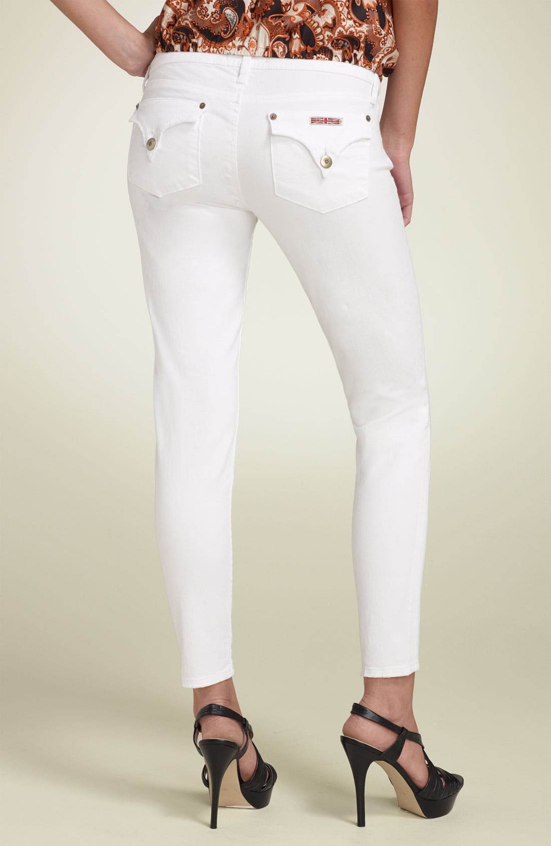 Hudson Jeans 'Emily' Super Skinny Crop Stretch Jeans (White ...