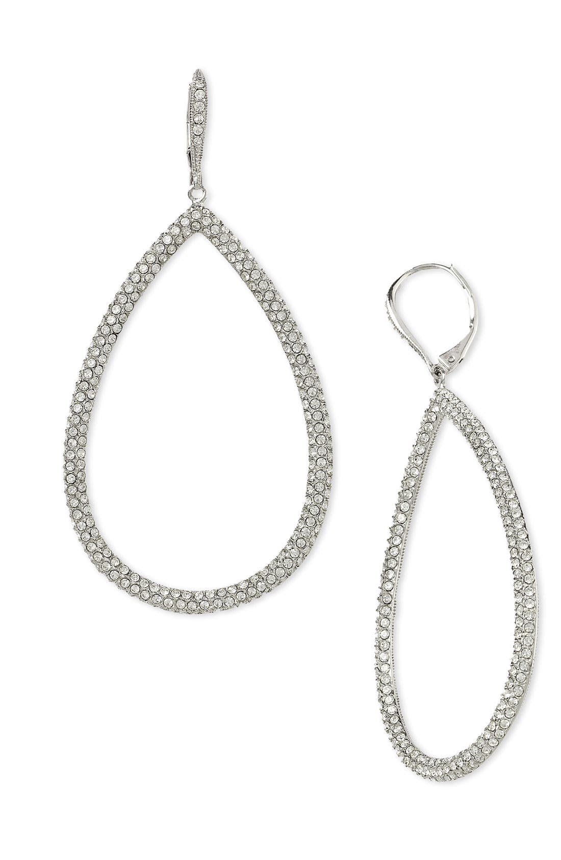 Main Image - Nadri Pavé Open Teardrop Earrings