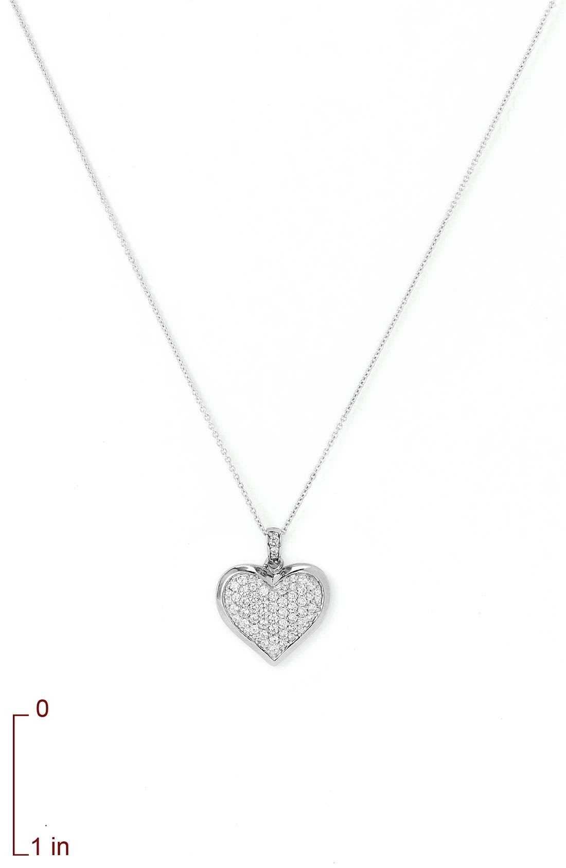 Alternate Image 2  - Nordstrom Cubic Zirconia Locket Necklace