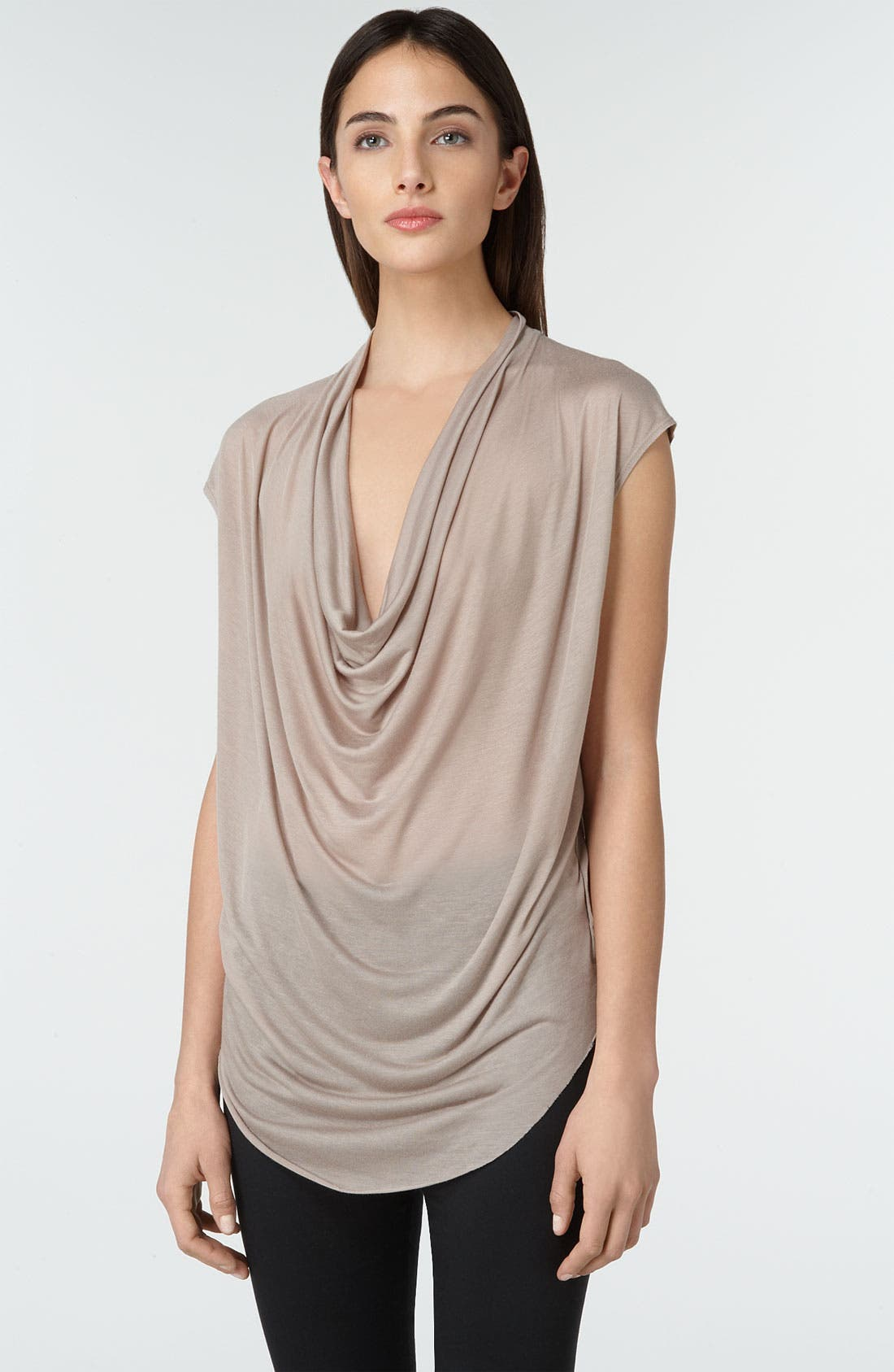 Alternate Image 1 Selected - Helmut Lang Drape Front Jersey Top