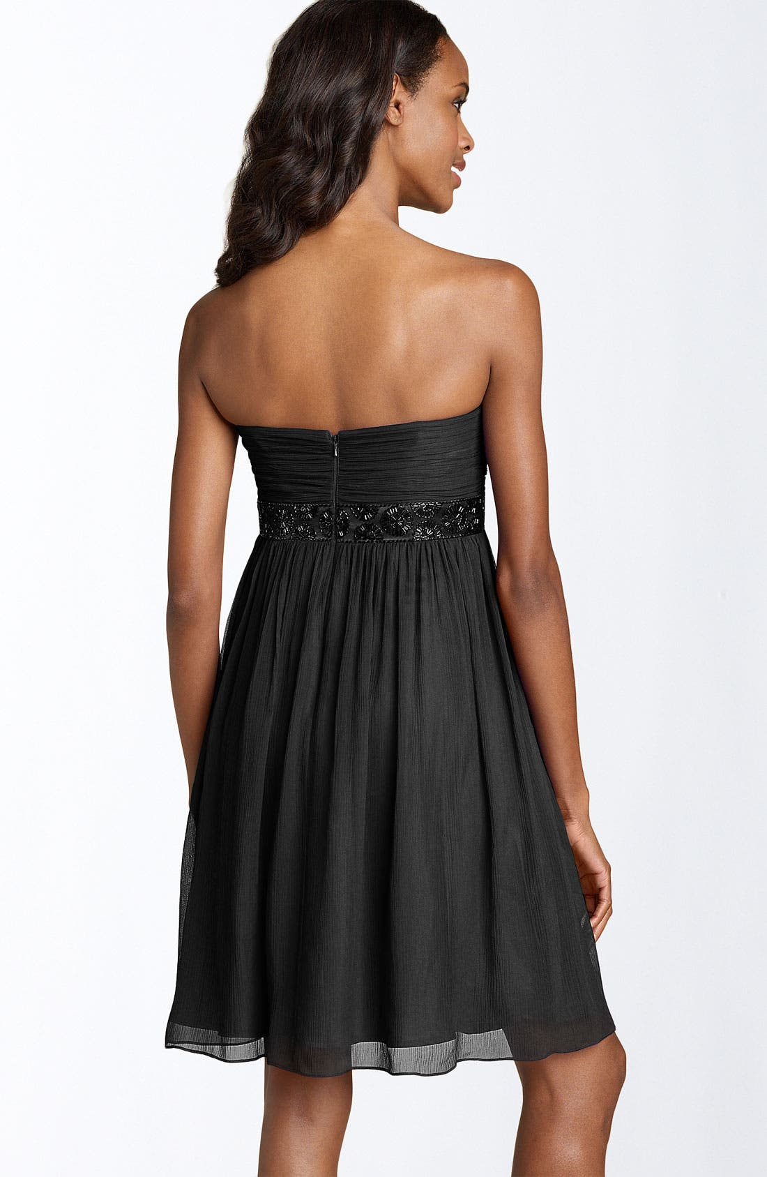 Alternate Image 2  - Maggy London Strapless Bead Bodice Dress